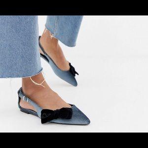ASOS pointed toe ballet flat